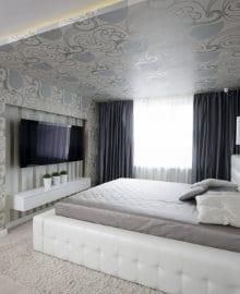 plafond tendu polyester imprime